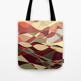 Gold Waves Tote Bag