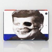 jfk iPad Cases featuring JFK SKULL PORTRAIT by Joedunnz