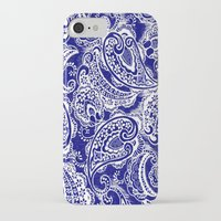 batik iPhone & iPod Cases featuring paisley batik by Ariadne