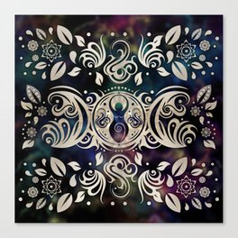 Triple Moon Goddess Moonlight purple #1 Canvas Print
