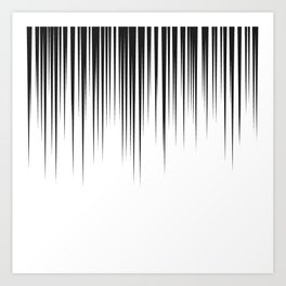black lines background manga speed frame Art Print