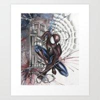 spider man Art Prints featuring SPIDER-MAN by Jay Allen Hansen