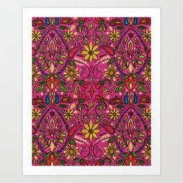 aziza pink Art Print