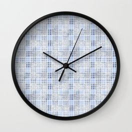 Classical blue with a gray cell. Wall Clock