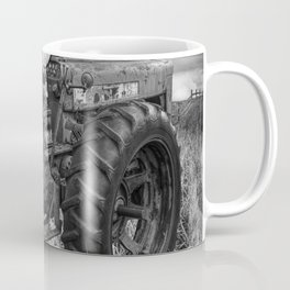 Abandoned Old Farmall Tractor in Black and White Coffee Mug