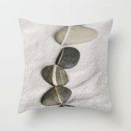 zen pebble line Throw Pillow