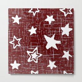 Star pattern, Red Designs, Cute patterns For Home Decor Metal Print