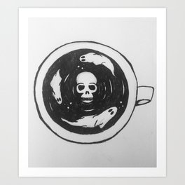 Hot + Haunted Art Print