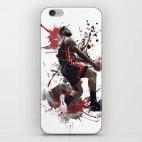 lebron iPhone & iPod Skins featuring LeBron 6 by Asta Dagmar