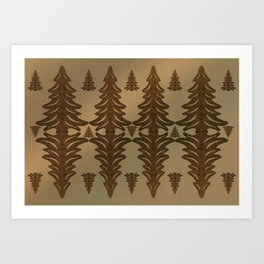 Brown Bramble Pung Trees Art Print