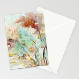 Autumn (abstract watercolor) Stationery Cards