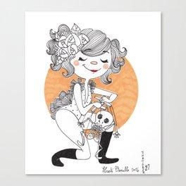 Marionette squelette Canvas Print