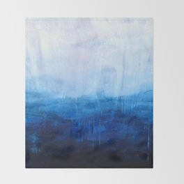 All good things are wild and free - Ocean Ombre Painting Throw Blanket