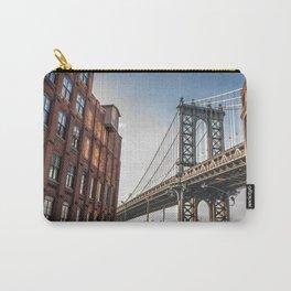 Historic Manhattan Bridge Urban New York City United States America Ultra HD Carry-All Pouch