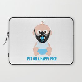 Put on a Happy Face Laptop Sleeve