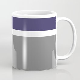 Navy and Gray Stripes Coffee Mug