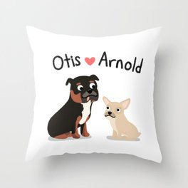 "Custom Artwork, ""Otis and Arnold"" Throw Pillow"