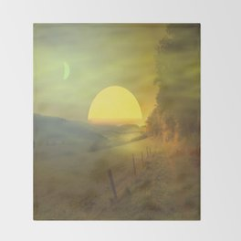 Landscape hike Throw Blanket