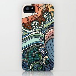'Jonah and the Whale' iPhone Case