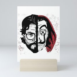 La casa de papel - Professor and Salvador Dali Mask Mini Art Print