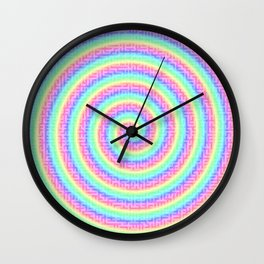 The magic of the colorful maze Wall Clock
