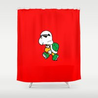 trooper Shower Curtains featuring Koopa Trooper by dutyfreak