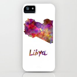 Libya in watercolor iPhone Case