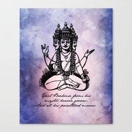 John Keats - Endymion - Brahma Canvas Print