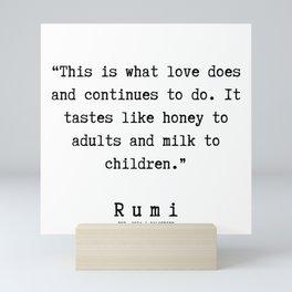 140  | Rumi Quotes | 190221 Mini Art Print