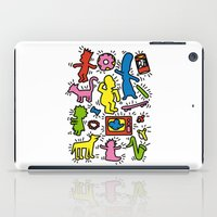 simpsons iPad Cases featuring Haring - Simpsons by Krikoui