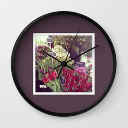 fleur the second Wall Clock