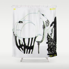 Honey 2Buns Shower Curtain