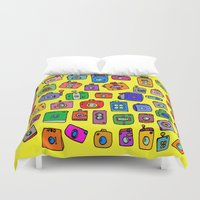 cameras Duvet Covers featuring Cameras by andy_panda_