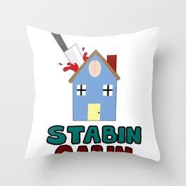 Stabin Cabin Logo Throw Pillow