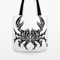 cancer Tote Bags featuring Cancer by Mario Sayavedra