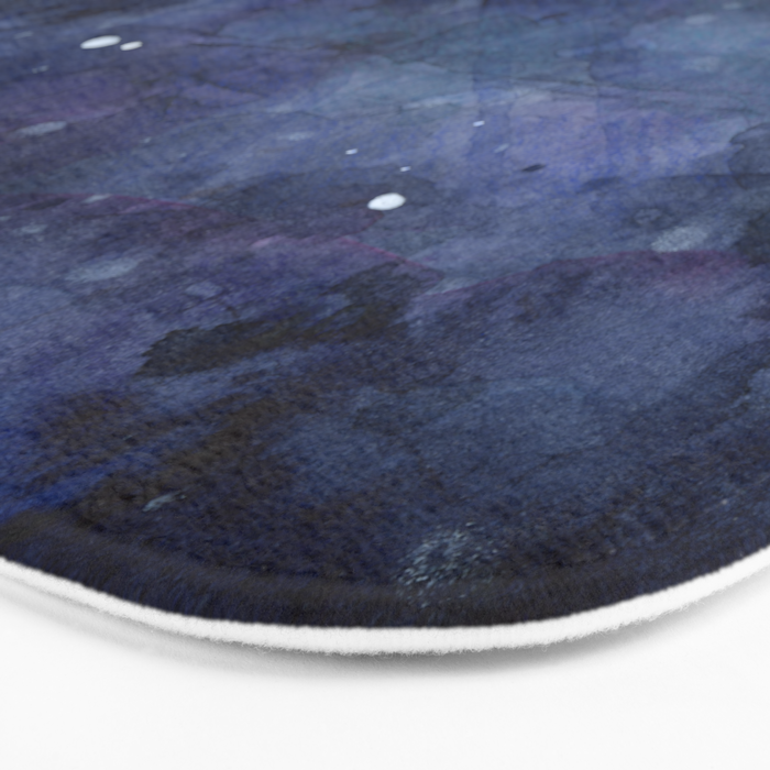 Night Sky Stars Galaxy | Watercolor Nebula Bath Mat