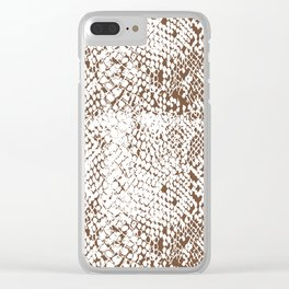 Snake Skin Toffee Clear iPhone Case
