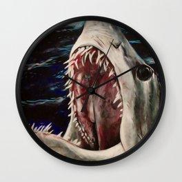 Mako Shark of Dark Waters Wall Clock