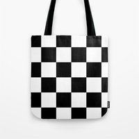 chess Tote Bags featuring Chess ? by Abstracthelabel