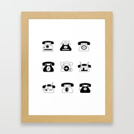 Fifties' Smartphones Framed Art Print