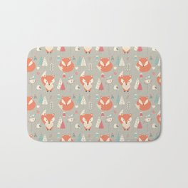 Baby fox pattern 01 Bath Mat