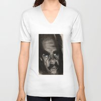 nick cave V-neck T-shirts featuring Nick Cave by Patrick Dea