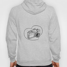 Vintage 35mm SLR Camera Heart Drawing Hoody