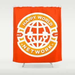 HAPPY WORLD NEWS NETWORK Shower Curtain