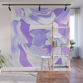 Shades of Purple Brush Stroke pattern #abstractart Wall Mural