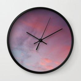 Pink Blushing Sky Wall Clock