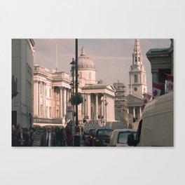 A Morning in Trafalgar Square Canvas Print