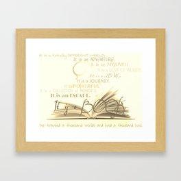 A Book Framed Art Print