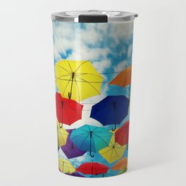 the floating umbrellas Travel Mug