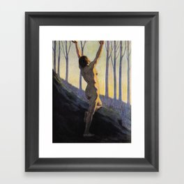 """""""We found our own, O my Soul, in the calm and cool of the daybreak"""" (Margaret C. Cook, 1913) Framed Art Print"""